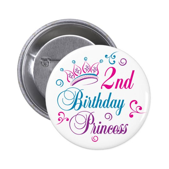 2nd Birthday Princess Button
