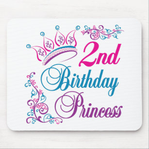 2nd Birthday Princess Mouse Pad