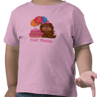 2nd Birthday Puppy Personalized T-shirt