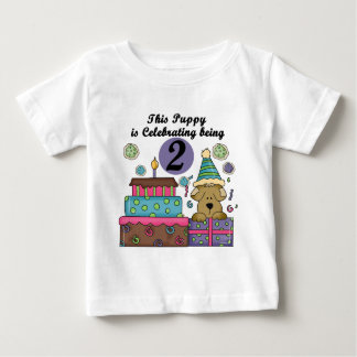 2nd Birthday Puppy Tshirts and Gifts