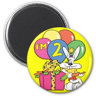 2nd Birthday Rabbit Fridge Magnets