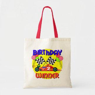 2nd Birthday Race Car Birthday Canvas Bags
