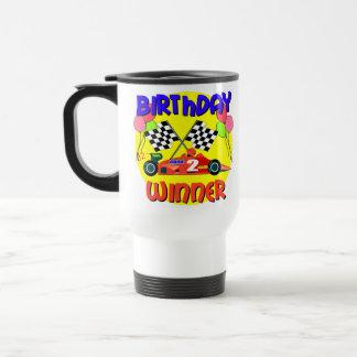 2nd Birthday Race Car Birthday 15 Oz Stainless Steel Travel Mug