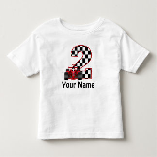 2nd Birthday Race Car Personalized Shirt
