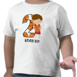 2nd Birthday Red and White Basketball Player Shirt