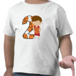 2nd Birthday Red and White Basketball Player Tshirts