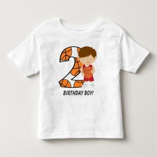 2nd Birthday Red and White Basketball Player Shirt