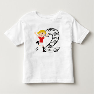 2nd Birthday Red and White Soccer Goal T-Shirt