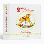 2nd Birthday Rocking Horse 1.5 inch Vinyl Binder
