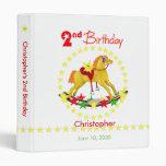 2nd Birthday Rocking Horse 1 inch Vinyl Binders
