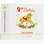 2nd Birthday Rocking Horse 2 inch 3 Ring Binder