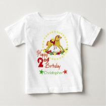 2nd Birthday Rocking Horse Baby T-Shirt
