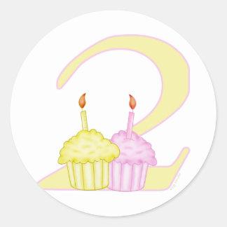 2nd Birthday Round Sticker