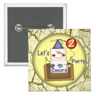 2nd Birthday Smores Pinback Button