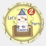 2nd Birthday Smores Round Stickers