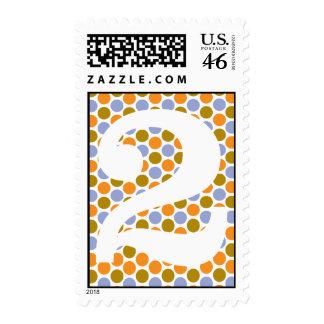 2nd Birthday Stamp Brown Orange