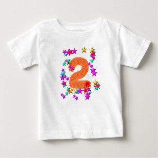 2nd birthday starry t-shirt