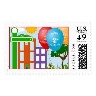 2nd Birthday Street Stamp