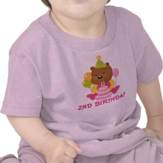 2nd Birthday Sweet Teddy  Bear Tee Shirt
