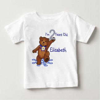 2nd Birthday Teddy Bear for Girl Baby T-Shirt