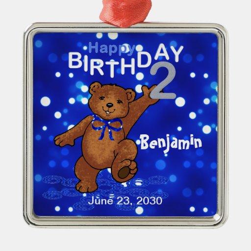 2nd Birthday Teddy Bear Keepsake Ornaments