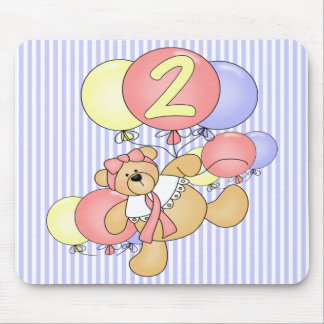 2nd Birthday Teddy Bear Mouse Pad