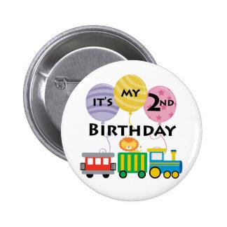 2nd Birthday Train Birthday Buttons