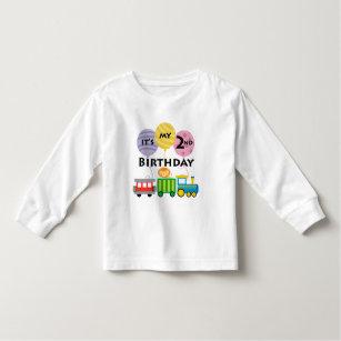 2nd Birthday Train Toddler T Shirt