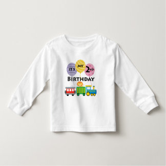 2nd Birthday Train Birthday Toddler T-shirt