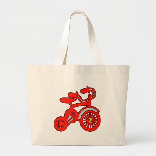 2nd Birthday Trike Tote Bag