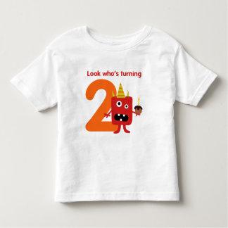 2nd Birthday Tshirt Cute Monster