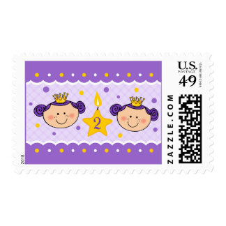 2nd Birthday Twincess Postage