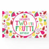 2nd Birthday Two-tti Frutti Fruit Birthday Party Banner