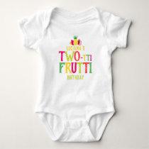 2nd Birthday Two-tti Frutti Fruit Personalized Baby Bodysuit