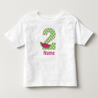 2nd Birthday Watermelon Pink Personalized T-shirt