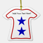 2nd Blue Star Mom (Add Your Own Text) Ornament