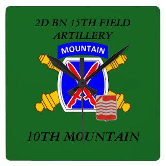 2ND BN 15TH FIELD ARTILLERY 10TH MOUNTAIN CLOCK
