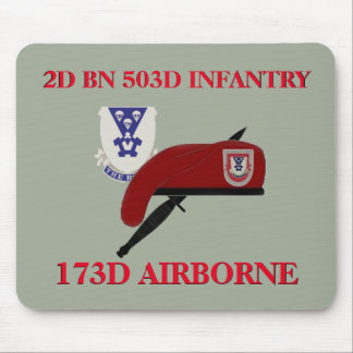 2ND BN 503D INFANTRY 173RD AIRBORNE MOUSEPAD