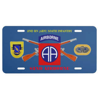 2ND BN 504TH INFANTRY 82ND ABN LICENSE PLATE