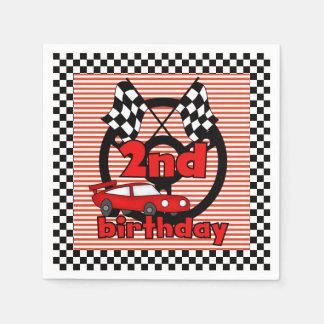 2nd Car Racing Birthday Paper Napkins