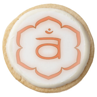 2nd Chakra Symbol Round Shortbread Cookie