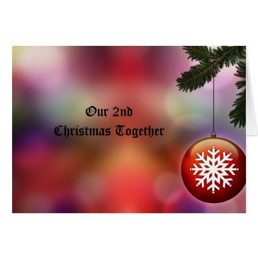2nd Christmas Together Christmas Card