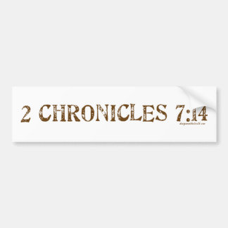 2nd Chronicles 7:14 Bumper Sticker