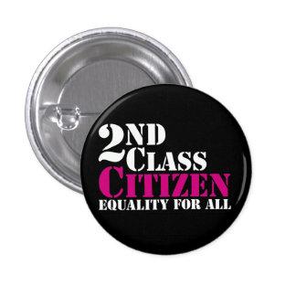 2nd Class Citizen Pinback Button