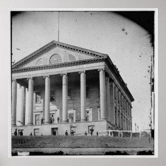 2nd Confederate Capitol Richmond Virginia (1865) Poster