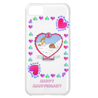 2nd cotton wedding anniversary, case for iPhone 5C