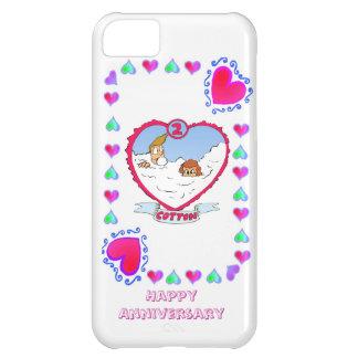 2nd cotton wedding anniversary, iPhone 5C case