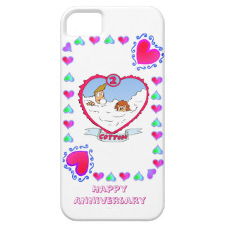 2nd cotton wedding anniversary, iPhone SE/5/5s case