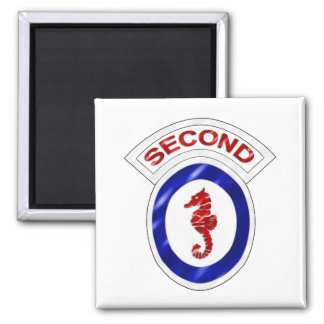 2nd Engineer Brigade 2 Inch Square Magnet