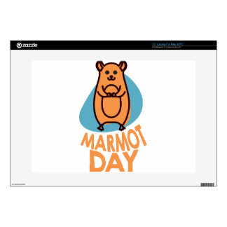 2nd February - Marmot Day - Appreciation Day Decals For Laptops